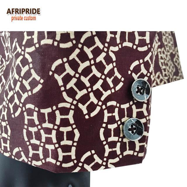 Afripride spring fashion suit jacket men s coat african traditional clothes  print wax Bazin Riche plus size c6a18e5e1cf3