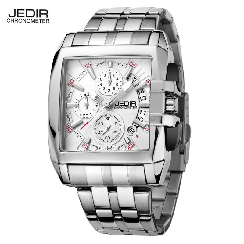 Watch Men JEDIR Luxury Brand Stainless Steel Fashion Casual Quartz Sport 30Bar Waterproof Hour Relogio Masculino 2017 Men Clock weide casual genuine luxury brand quartz sport relogio digital masculino watch stainless steel analog men automatic alarm clock