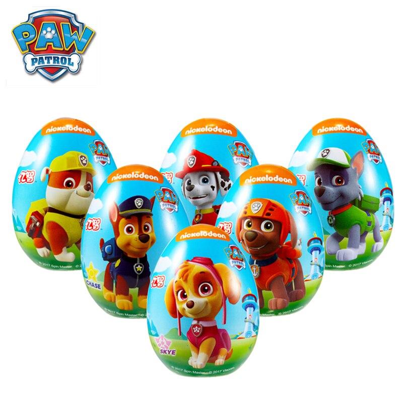 Original Nickelodeon Paw Patrol Dog Fun Surprise Egg Toy Random Gift Soft Candy Cartoon Action Figure Model Child Birthday Gift