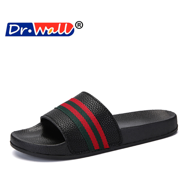 9a1cc22a9b3b 2018 Summer New Character Word Men and Women Non-slip Lovers Beach Shoes  Sandals Thick Bottom Half Draguniex Shoes Outdoor White