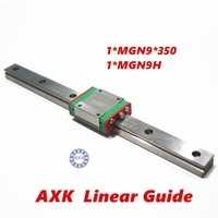Free Shipping 9mm Linear Guide MGN9 L 350mm Linear Rail Way MGN9H Long Linear Carriage For