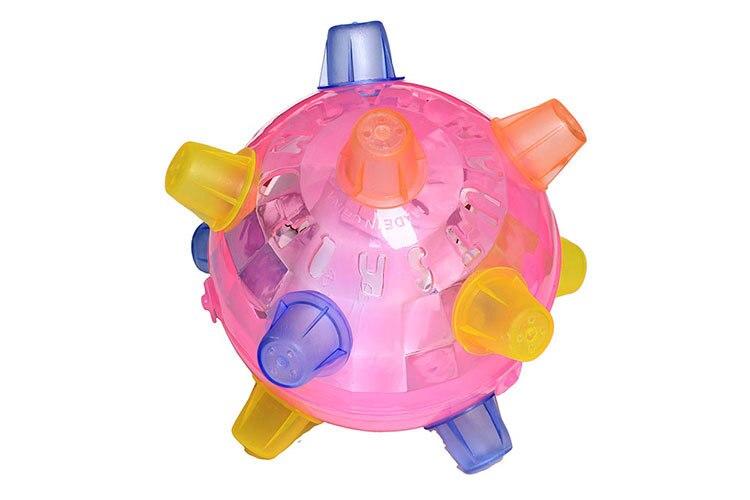Прыжок танец мяч мигающий свет музыка Крытый Открытый мини Детская играть в игры, игрушки случайная - Цвет: Random delivery