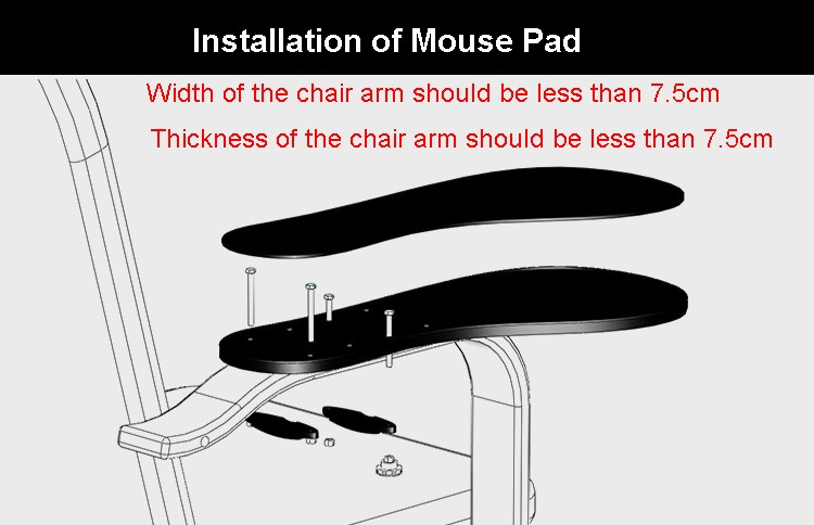 installation of mouse pad