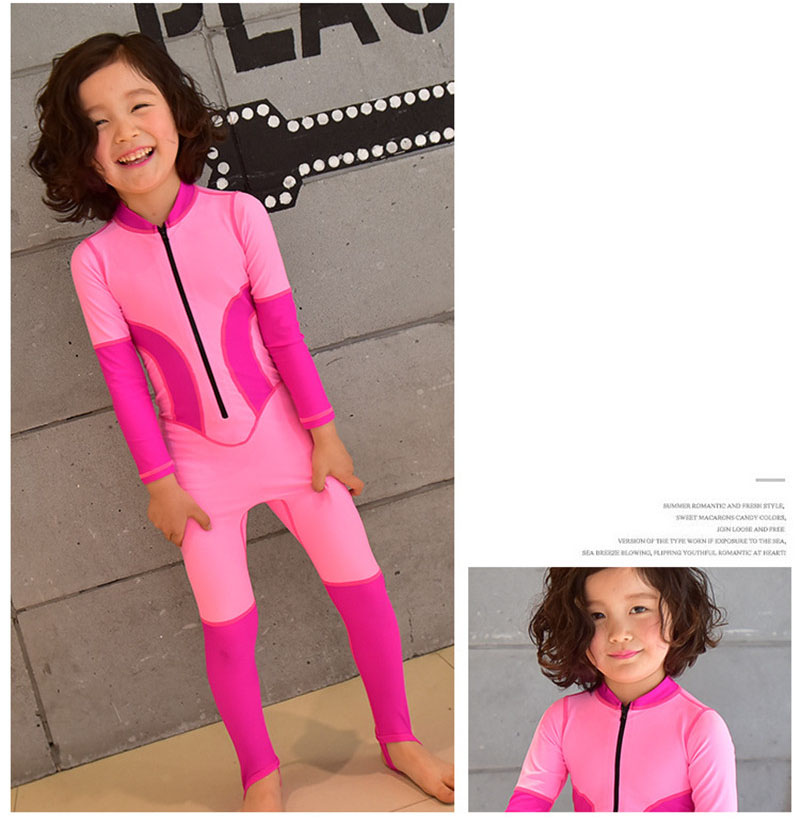 MagiDeal Quick Dry Kid Long Sleeve Swimsuit Swim Rash Guard Fitness Sunsuits