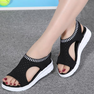 women summer platform sandal ladies shoes white black