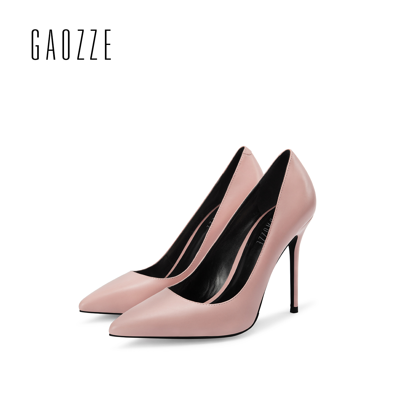 e0c29d3cf4c0 GAOZZE Elegant Pink High Heels Pointed Toe Classic Pumps Office Women Shoes  Leather High-Heeled Women Wedding Party Shoes 2018