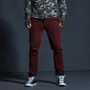 Image 3 - Vomint Mens warm Velvet pants for Fashion Zipper Thick Cargo Pants Slim Regualr Straight  Fit Cotton Multi Color Camouflage blue