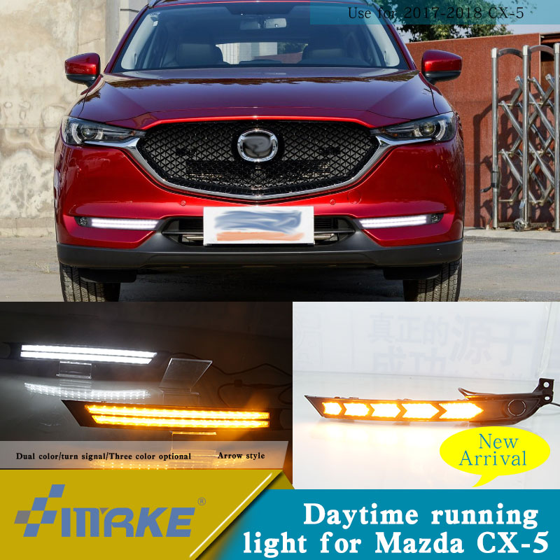 Индивидуальный OEM led drl для Mazda CX 5 2018 led drl с ходовым сигналом дневной свет Cx 5 модификация автомобильного света
