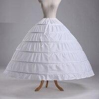 حار بيع 6 الأطواق الكرة أثواب منتفخ الزفاف الشاش زواج تنورة قماش قطني تحتية اكسسوارات الزفاف