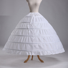 Hot Sale 6 Hoops Ball Gowns Puffy Wedding Petticoat Marriage Gauze Skirt Crinoline Underskirt Wedding Accessories