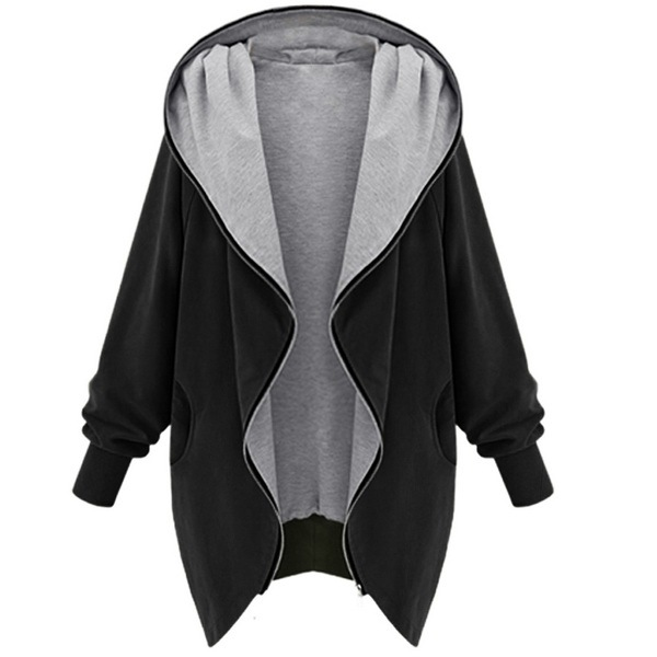 Fanala otoño trench coat mujeres abrigo largo trench coat para las mujeres batwing manga sólido chaquetas mujer capa de la cremallera femenina