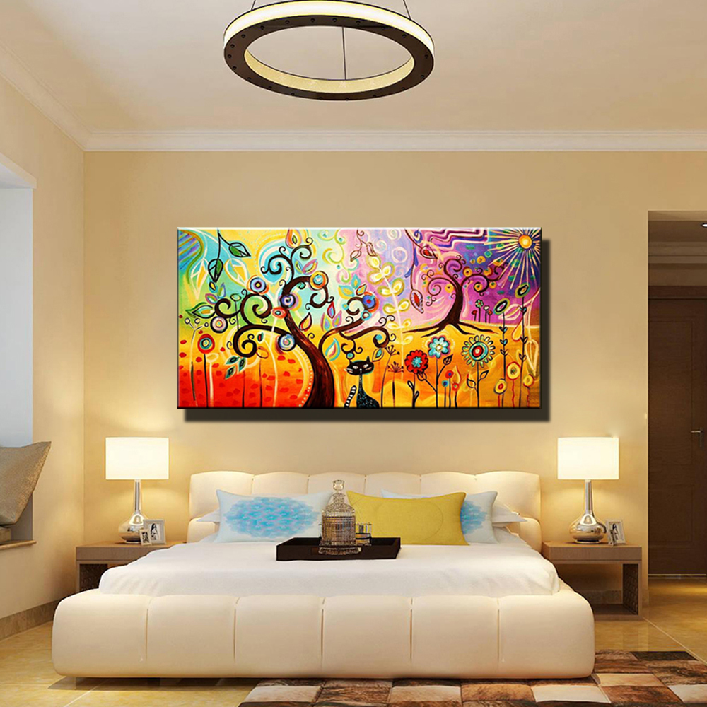 Aliexpress.com : Buy Abstract acrylic wall art hand painted Picture ...