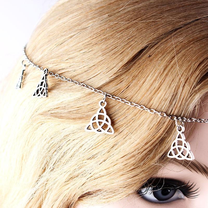 Jovono Fashion Star and Moon Tassels Head Chain Multilayered Headband for Women