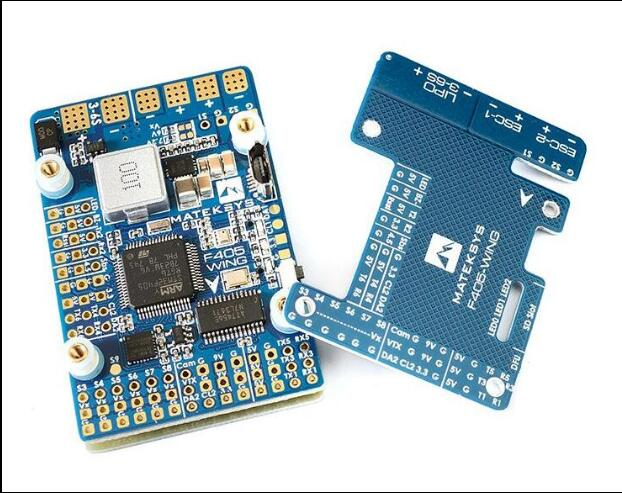 New Arrival Matek F405-WIng F4 Flight Control With OSD Support GPS And F411-WSE