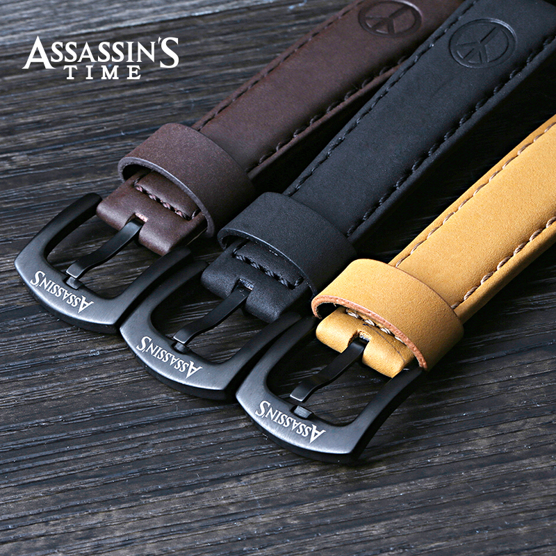 Assassins Time Brand Watch Men Quartz Male Watches Äkta Läder Rem - Herrklockor - Foto 6