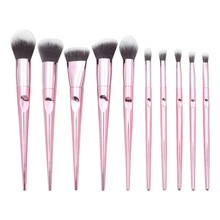 Get more info on the 10 Pcs Professional Makeup Brushes Set Tapered Finger Printing Handle Cosmetic Brush Set foundation brush dropshipping