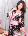 Attractive Hot Sale Sexy Japanese Kimono Bath Robe Nightdress Women Flower Floral Kimono Lingerie Sleepwear Nightgown Pajamas