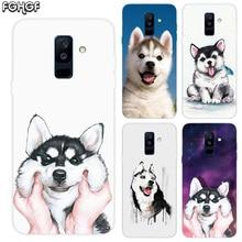 FGHGF Cute Husky Print Soft TPU Back Case For Samsung Galaxy A6 A8 Plus A5 A7 A9 Star 2018 A3 2017 A6S A8S Cover