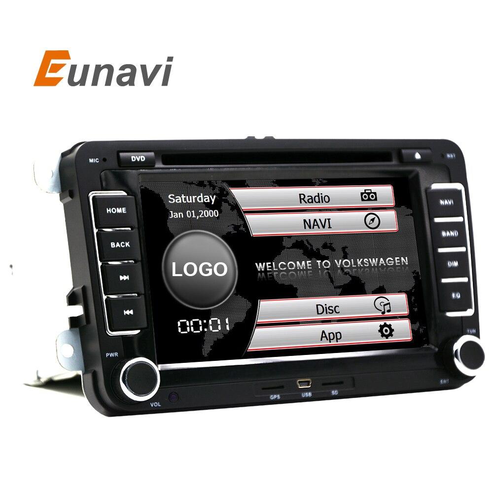 """imágenes para Eunavi 7 """"2din Coche DVD para VW GOLF 5 6 POLO PASSAT CC JETTA TIGUAN TOURAN EOS SHARAN SCIROCCO TRANSPORTER T5 CADDY con GPS"""