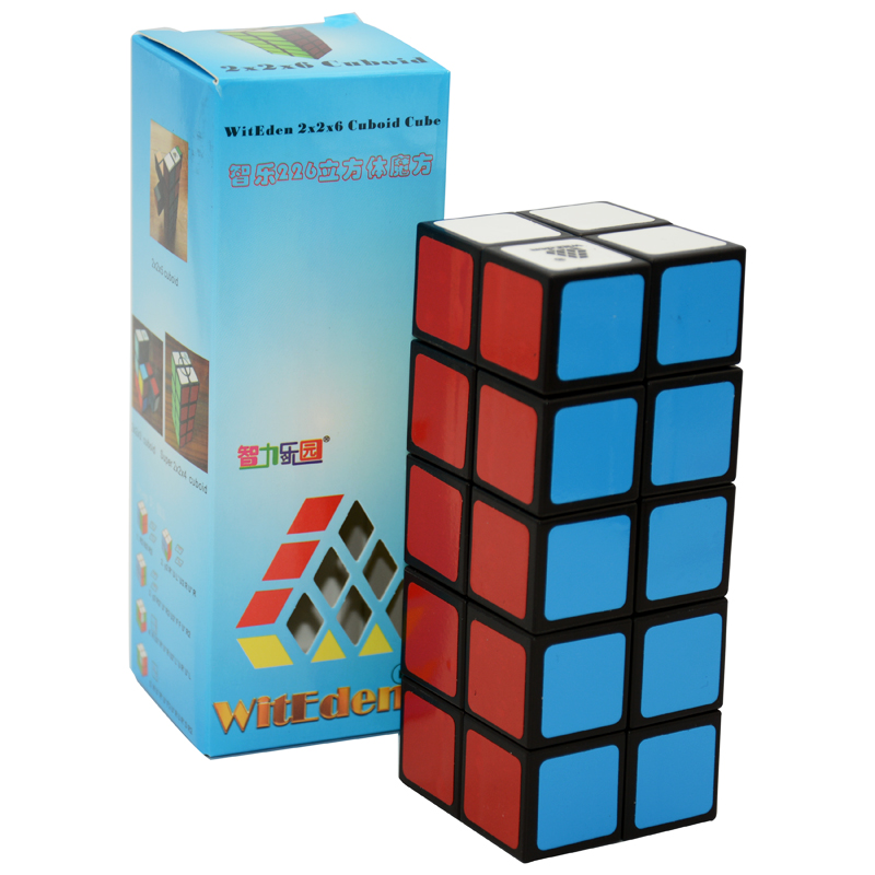Newest WitEden 2x2x5 Cuboid Professional Magic Cube Competition Speed Puzzle Cubes Toys For Children Kids Stickers цена 2017