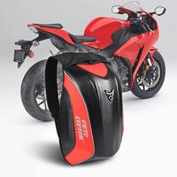 Carbon Fiber Motorcycle Backpack Reflective Waterproof Hard Shell Luggage Bag