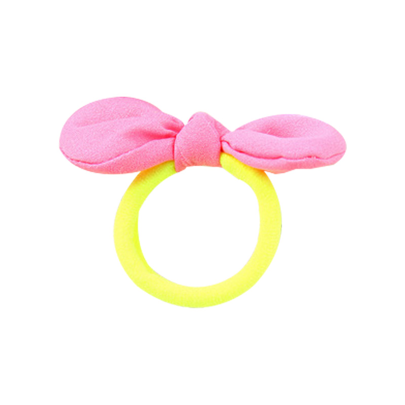 Knowledgeable Children's Hair Accessories Korean Rabbit Ears Cute Hair Circle Flower Girl Baby Headdress Rubber Band Little Girl Head Rope