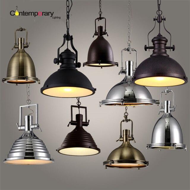 US $76.95 19% OFF|Vintage pendelleuchten E27 industrie retro edison lampen  dia 36 cm loft bar wohnzimmer leuchte küche esszimmer Hängen lampe in ...