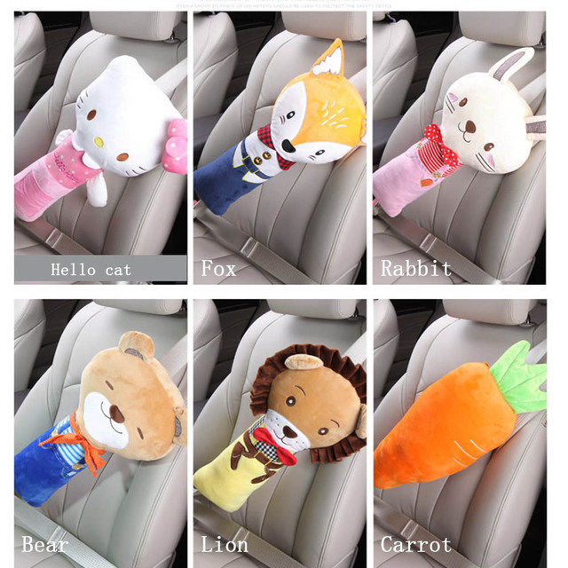 Car Seat Belts Safety Universal Kids Shoulder Pad Cover For Children Super Soft Flannelette