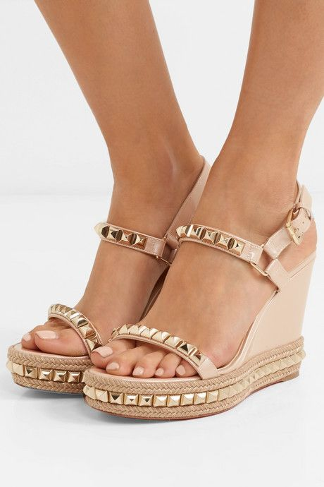 Celebrity Womens Braided Ankle Cross Strap Wedge High Heels Roman Sandal US SIZE