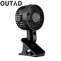 Mini Clip Type Cooling Fan Super Mute Silent 12 Blades Cooler Air Cooling Fan USB Powered