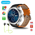 "LEM5 Android Smart watch Bluetooth 1.39 ""IPS OLED Круглый Дисплей 400*400 1 ГБ + 8 ГБ GPS/WiFi Наручные Часы Для Android IOS Телефон"
