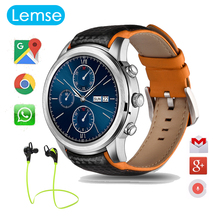 LEM5 Android Smart watch Bluetooth 1 39 IPS OLED Round Display 400 400 1GB 8GB GPS
