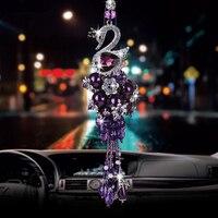 Crystal Swan Pendant Dream Monkey Car Swan Pendant Inlaid Diamond Pendant