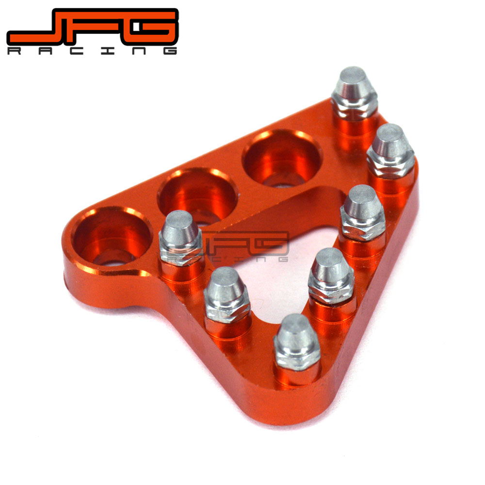 BILLET REAR BRAKE PEDAL STEP TIPS For KTM 125 200 250 300 350 400 450 500 525 530 690 950 990 SX EXC XCF ADVENTURE DUKE motorcycle front rider seat leather cover for ktm 125 200 390 duke