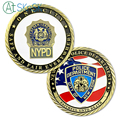 Antique medals Unite states flag NYPD coins collectibles New York police department bronzed plated challenge coins for souvenir