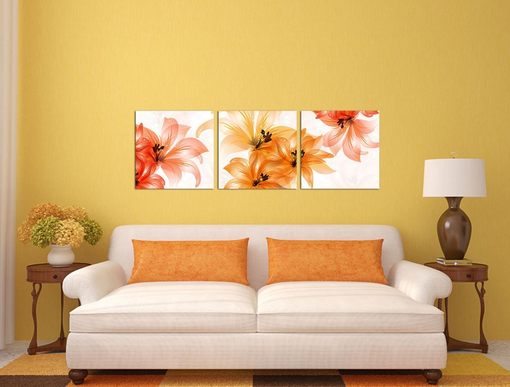 BANMU Orange Flowers Paintings Giclee Canvas Prints Artwork for Home ...