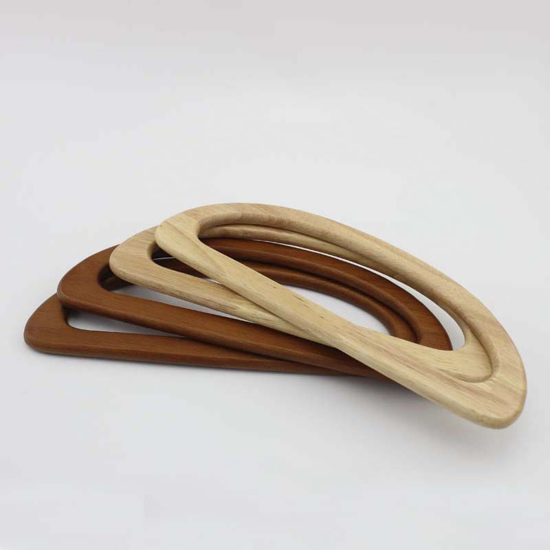 20 pairs=40 pieces,bulk order 24X9cm natural wood handle for quilting purse,solid wood D shaped bags handles,Free Fast Shipping