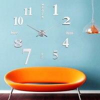 แฟชั่นใหม่DIYดิจิตอลขนาดใหญ่นาฬิกาแขวนขนาดใหญ่นาฬิกาตกแต่งบ้านของขวัญที่ไม่ซ้ำทรราช
