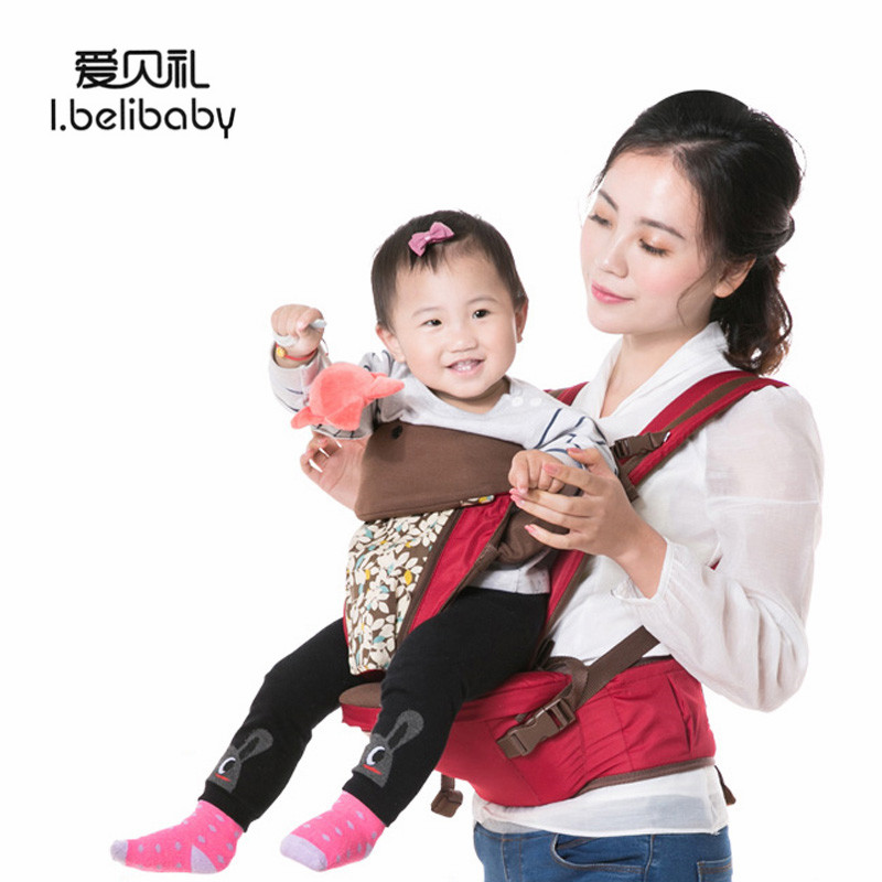 Ibelibaby Baby Carriers Thickening Shoulders 360 Ergonomic Hoodie Kangaroo Baby Carrier Comfortable Baby Carrier Wrap Stool