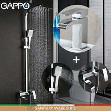 GAPPO bath tub taps bathroom shower set basin faucets basin sink tap shower system Sanitary Ware Suite