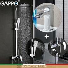 GAPPO système de douche, robinets de baignoire, salle de bain douche, robinets de lavabo évier, Suite sanitaire