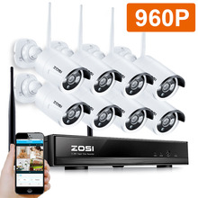 ZOSI 960P 8CH Wireless NVR CCTV System wifi 1.3MP IR Outdoor Bullet P2P IP Camera Waterproof Security Video Surveillance Kit