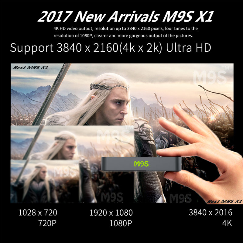 LTS Newest 1+8G TV BOX Android 6.0 Support 3840*2160 Ultra HD Wifi Network Cable Kodi S950X Quad-core Cortex-A53 Set-Top BOX 2016 new original xiaomi tv box 3 s pro amlogic s905 cortex a53 2 0ghz 1gb ddr3 4gb emmc5 0 android 5 0 4k 3840 x 2160