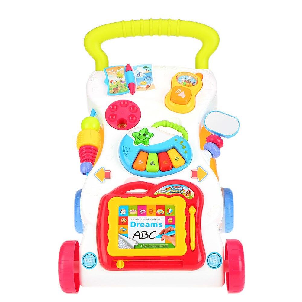 Haute qualité bébé marcheur multi-fonction jouet pour enfants position assise-Support Abs musique marcheur et enfant réglage boulon