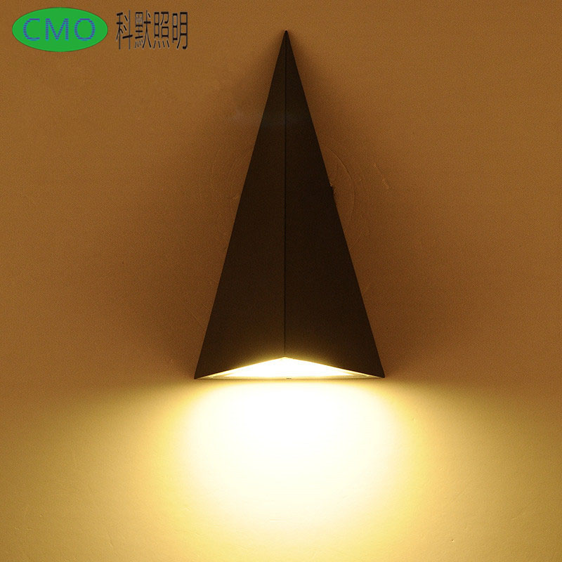 Triangle Modern Style LED Wall Light Lamp ,9W 85-265V Warm /cool White Simple and Fashion ,Indoor/Outdoor for Bedside GardenLamp free shipping 15w led ceiling lamp lantern indoor lamp led spotlight cool warm white 85 265v
