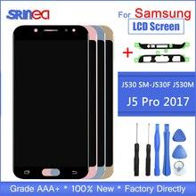 LCD ajustável Para Galaxy J530 2017 Para Samsung J5 Pro J530 J530F J5 2017 Exibição Digitador Da Tela de Toque LCD Adesiva fita + Ferramentas