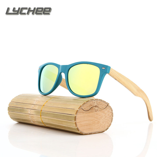 LYCHEE 2016 Polarizing Glasses Men Bamboo Glasses for Driving Man Vintage Brand Polarized Gafas De Sol Polarizadas Oculos Hombre