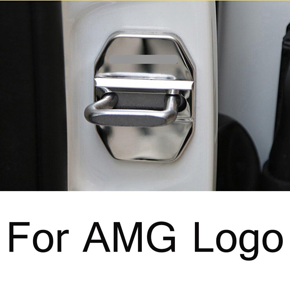 1-20 Sets For AMG Logo Car Door Lock Cover Badge Trim For Mercedes Benz B C E Class W164  B180 B200 W166 W204 X204 Car Tuning
