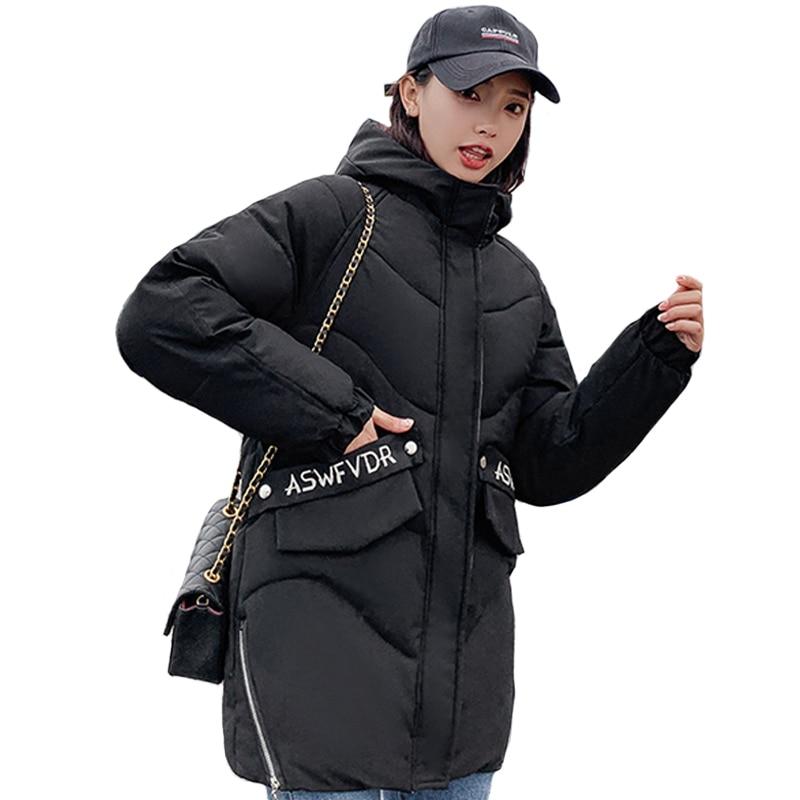 2019 New Fashion Winter Jacket Women Hooded Warm Thicken Female Cotton Padded Long Parka Outwear Womens Winter Coat Parka Mujer