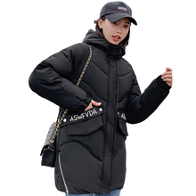 2019 New Fashion Winter Jacket Women Hooded Warm Thicken Female Cotton Padded Long Parka Outwear Womens Coat Mujer